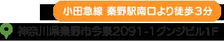 うめの手鍼灸院は、小田急線の秦野駅南口より徒歩3分(神奈川県秦野市今泉2091-1 グンジビル1F)